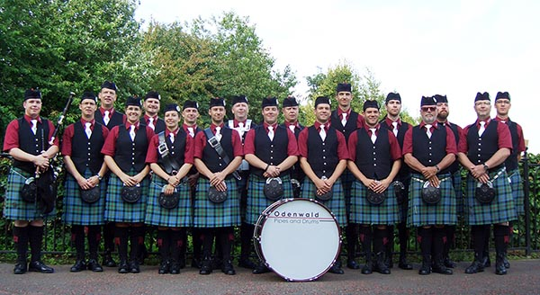 Odenwald Pipes and Drums - 2012